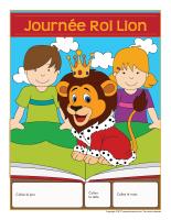 Calendrier perpétuel-Journée-Roi Lion