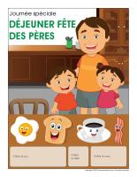 Calendrier perpétuel-Journée-Spéciale-Déjeuner fête des Pères