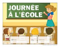 Calendrier perpétuel-Journée à l'école