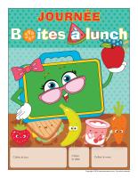 Calendrier perpétuel-Journée boites à lunch