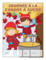 Calendrier perpétuel-Journée cabane à sucre