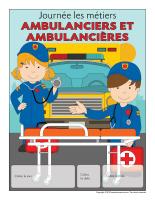 Calendrier perpétuel-Journée les métiers-Ambulanciers-Ambulancières