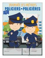 Calendrier perpétuel-Journée les métiers-Policiers-Policières