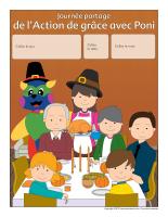 Calendrier perpétuel-Journée-partage de l'Action de grace avec Poni