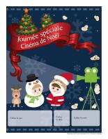 Calendrier perpétuel-Journée spéciale-Cinéma de Noël