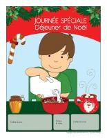 Calendrier perpétuel-Journée spéciale-Déjeuner de Noël
