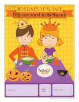 Calendrier perpétuel-Journée spéciale-Déjeuner royal de Sa Majesté