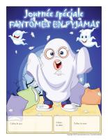 Calendrier perpétuel-Journée spéciale-Fantômes en pyjamas