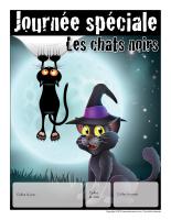 Calendrier perpétuel-Journée spéciale-Les chats noirs
