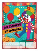 Calendrier perpétuel-Journée spéciale-Les clowns en spectacle
