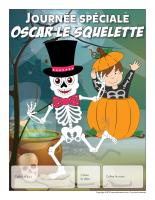 Calendrier perpétuel-Journée spéciale-Oscar le squelette