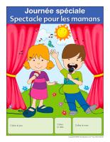 Calendrier perpétuel-Journée spéciale-Spectacle pour les mamans 2020