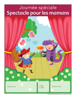 Calendrier perpétuel-Journée spéciale-Spectacle pour les mamans