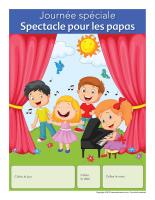 Calendrier perpétuel-Journée spéciale-Spectacle pour les papas