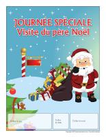 Calendrier perpétuel-Journée spéciale-Visite du père Noël