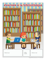 Calendrier perpétuel-Journée thématique-À la bibliothèque
