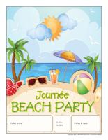 Calendrier perpétuel-Journée thématique-Beach party