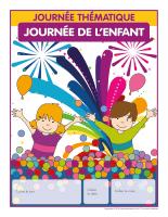 Calendrier perpétuel-Journée thématique-Journée de l'enfant