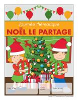 Calendrier perpétuel-Journée thématique-Noël-Le partage