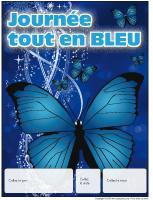 Calendrier perpétuel-Journée tout en bleu