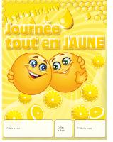 Calendrier perpétuel-Journée tout en jaune