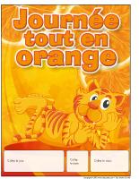 Calendrier perpétuel-Journée tout en orange