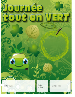 Calendrier perpétuel-Journée tout en vert