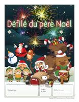 Calendrier perpétuel-Le défilé du père Noël