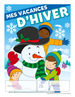 Calendrier perpetuel-Mes vacances dhiver