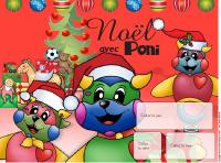 Calendrier perpétuel Noël - Poni