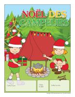 Calendrier perpetuel-Noël des campeurs