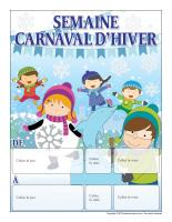 Calendrier perpétuel-Semaine Carnaval d'hiver