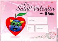 Calendrier perpétuel-St-Valentin Poni