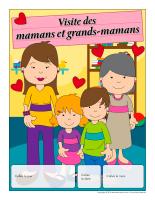 Calendrier perpétuel-Visite des mamans et grands-mamans