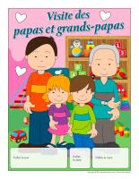Calendrier perpétuel-Visite des papas et grands-papas