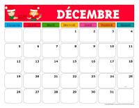 Calendriers-Janvier à décembre-2021