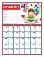 Calendriers thematiques-Janvier a decembre 2017