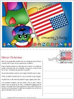 Carte de Noël au États-Unis