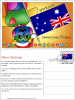 Carte de Noël en Australie