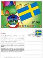 Carte de Noël en Suède