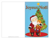 Carte de souhaits Noël-Couleur