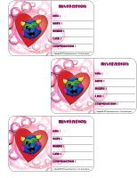 Carte invitation Saint-Valentin Poni