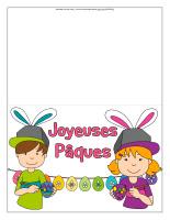 Cartes Pâques-couleur 2020