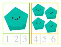 Cartes à compter-Formes-1