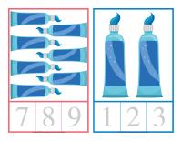 Cartes à compter-La santé dentaire-1