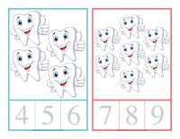 Cartes à compter-La santé dentaire-4