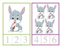 Cartes à compter-Lapins-1
