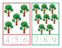 Cartes à compter-Les arbres-1