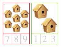 Cartes à compter-Les cabanes-1