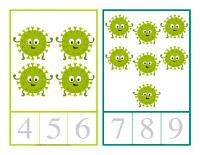 Cartes à compter-Les microbes-2